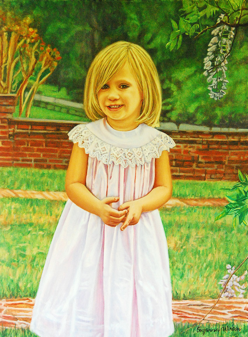 Daughter of Smith family - oil portrait
